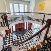 Old Westbury Georgian Colonial Stairs