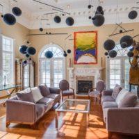 Old Westbury Georgian Colonial Living Room